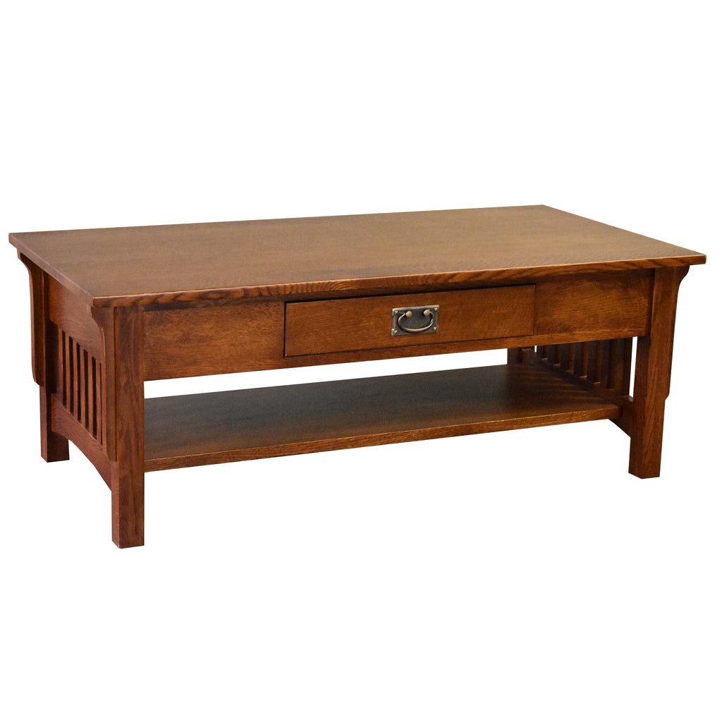 Mission Crofter Style 1 Drawer Coffee Table - Michael's Cherry