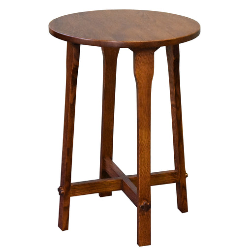 Arts and Crafts / Mission Style Oak Round End Table - Model A22 - Crafters and Weavers