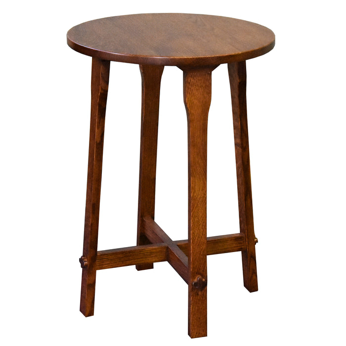 Arts and Crafts / Mission Style Oak Round End Table - Model A22