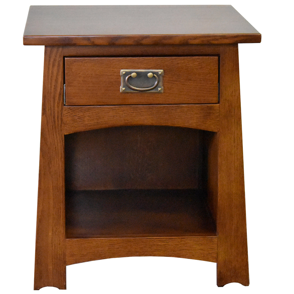 Mission Style Solid Quarter Sawn Oak Keyhole End Table - Model A28
