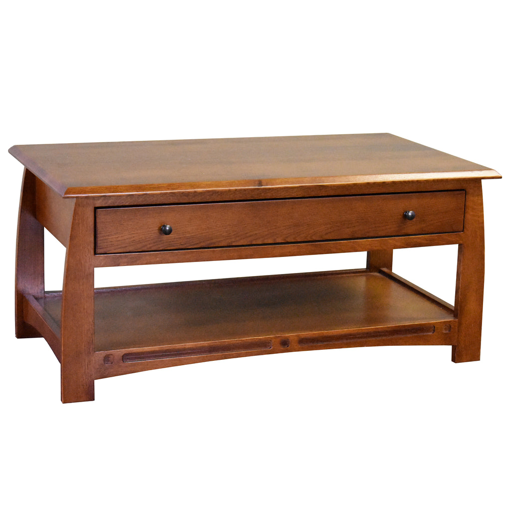 Mission Crofter Style 1 Drawer Coffee Table - Model A32