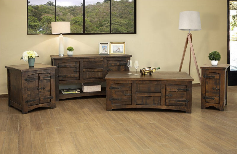 Atlantic 4 Drawer / 4 Door Coffee Table
