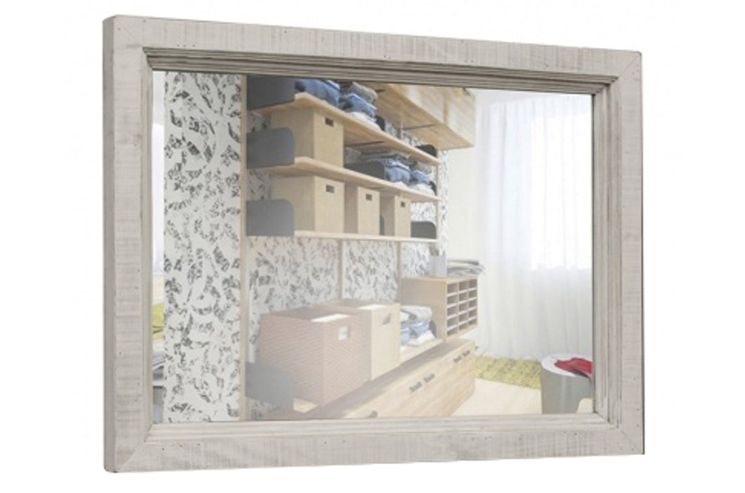 Stonegate Solid Wood Mirror - White