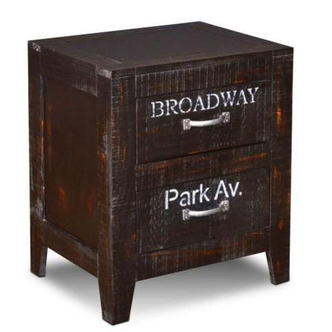City 2 Drawer End Table - Crafters & Weavers