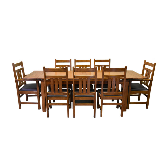 Mission Stow Leaf Table with #401 Chair Dining Set - Light Oak