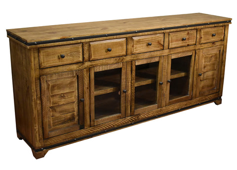 Addison Rustic 82 inch TV Stand / Sideboard - Light