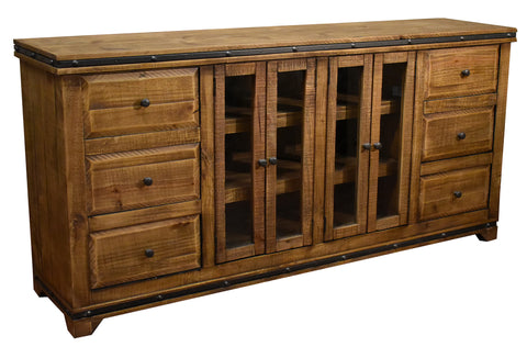 Addison Rustic 6 Drawer TV Stand / Sideboard - Light