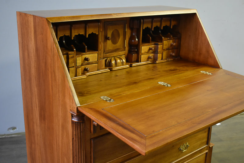 Legacy 5 Drawer Secretary Desk - Light Brown Walnut