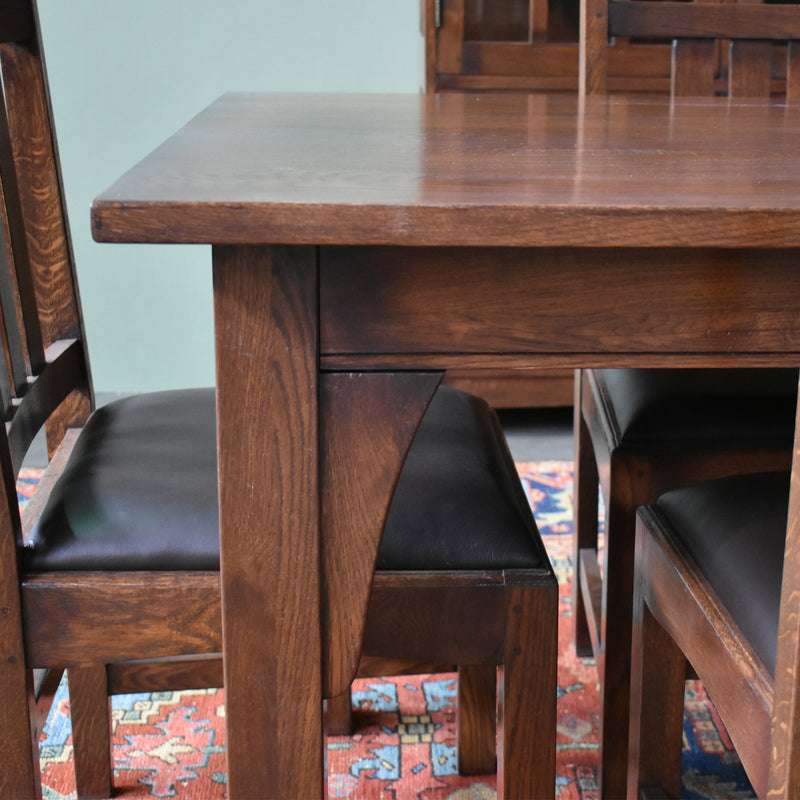 "Mission 70"" Solid Oak Dining Table - Walnut"