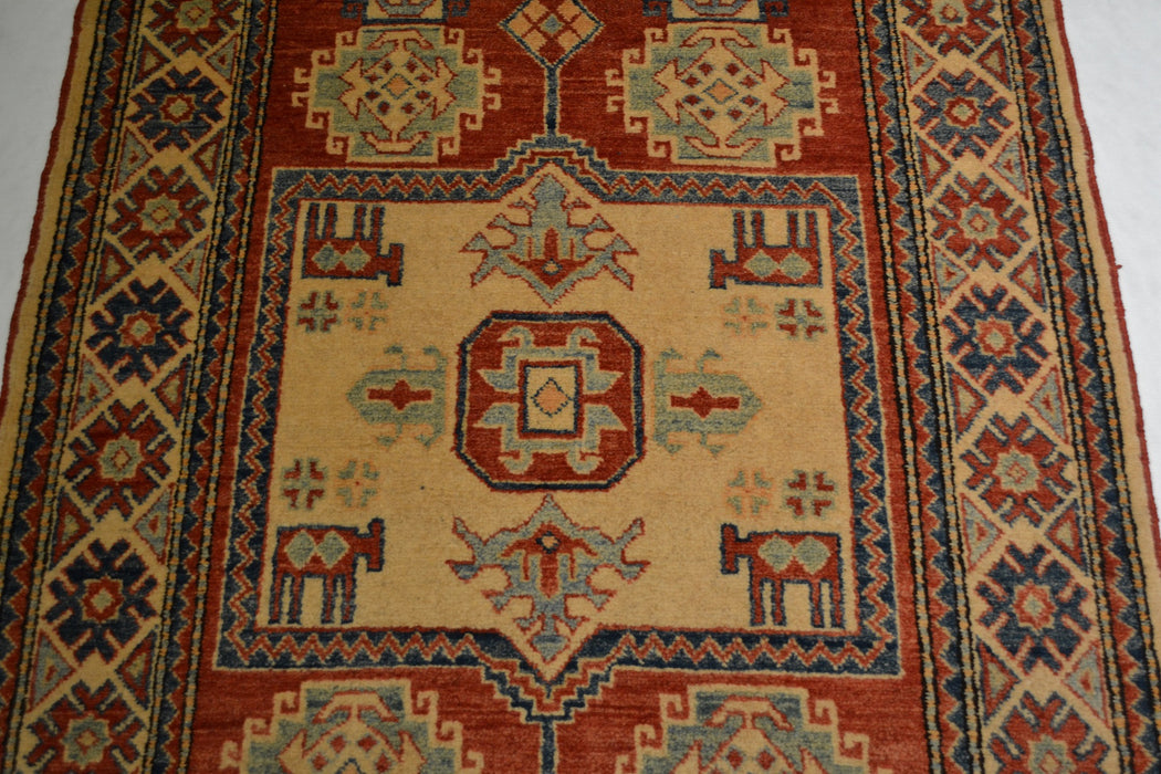rug1392 3.7 x 5.7 Kazak Rug - Crafters and Weavers