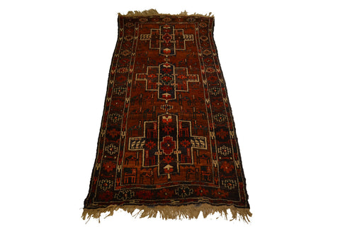 rug927 3 x 6.6 Tribal Rug - Crafters & Weavers - 1