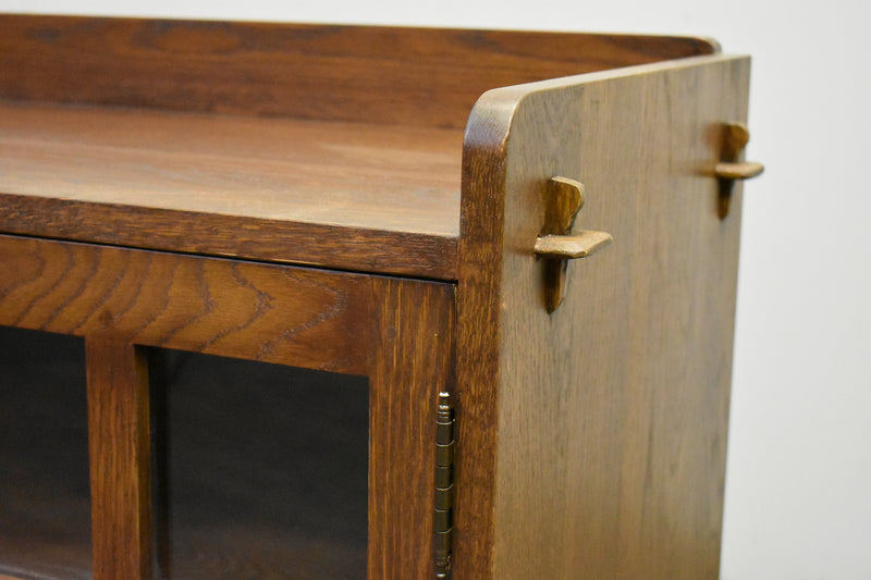 Mission Oak 3 Door Console