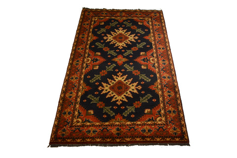 rug3079 3.10 x 6.8 Tribal Kargai Rug - Crafters & Weavers - 1