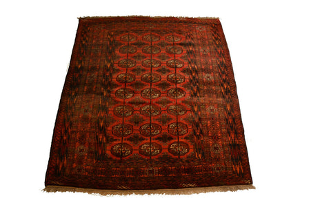 rug3091 4.3 x 5.4 Tribal Bokhara Rug - Crafters & Weavers - 1