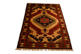 rug3011 4.1 x 5.9 Tribal Kargai Rug - Crafters & Weavers - 1