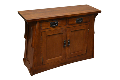 Arts and Crafts / Mission Crofter Style Entry Cabinet - English Oak - Crafters & Weavers - 1