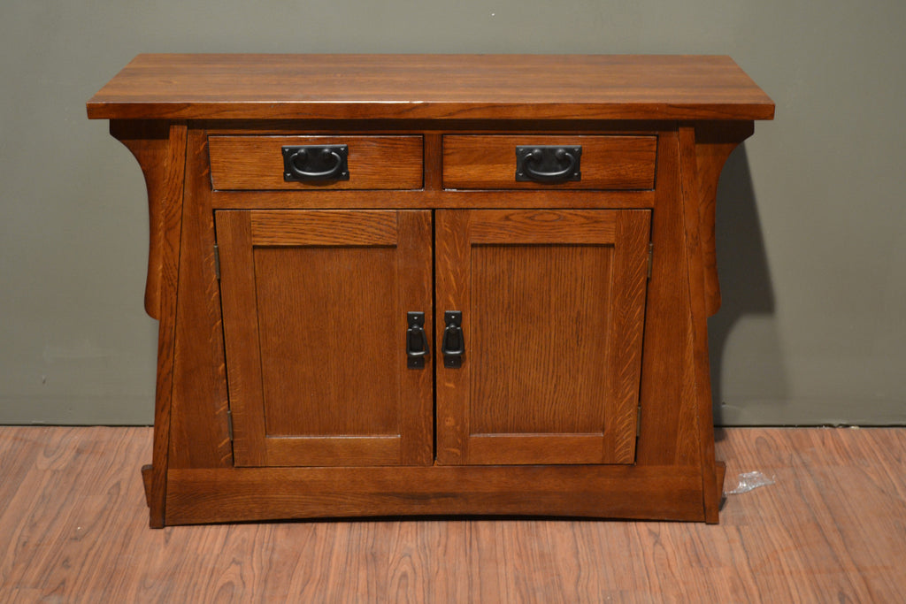 ... Arts And Crafts / Mission Crofter Style Entry Cabinet   English Oak    Crafters U0026 Weavers ...