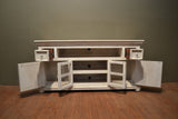 Keystone Carved 65 inch TV Stand - White - Crafters & Weavers - 4