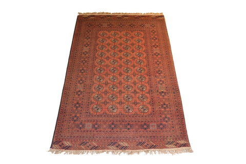 rug1042 3.8 x 5.10 Tribal Bokhara Rug - Crafters & Weavers - 1