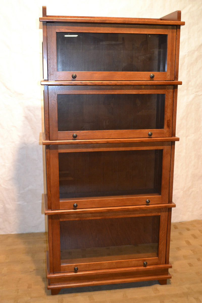 Mission Style Quarter Sawn Oak 4 Stack & 5 Stack Barrister Bookcases - Crafters and Weavers