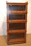 Arts and Crafts / Mission Style 4 Stack Oak Barrister Bookcase - Crafters & Weavers - 2