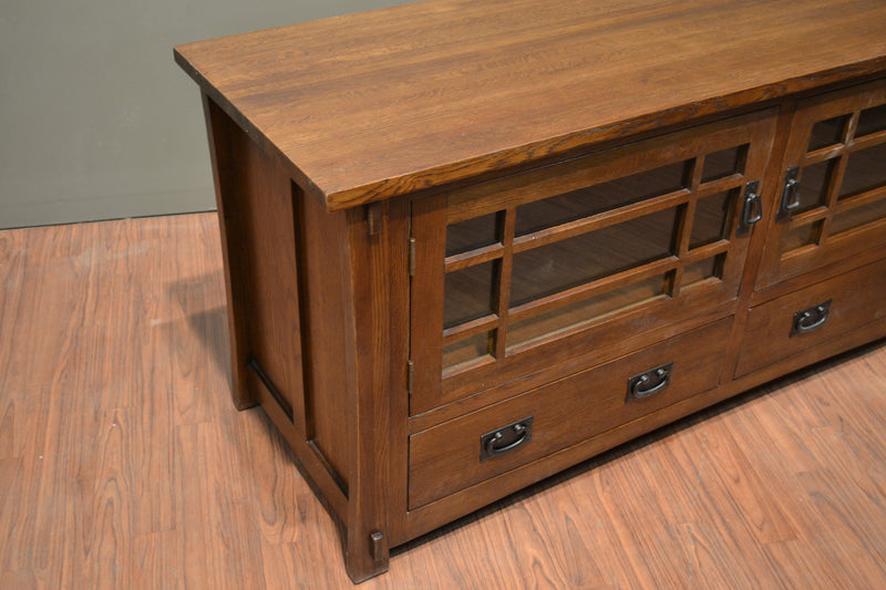 Mission Quarter Sawn Oak TV Stand - Crafters & Weavers - 7