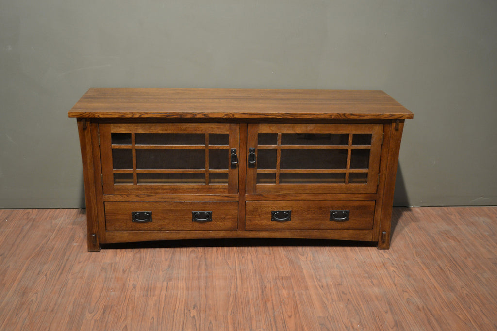 Mission Quarter Sawn Oak TV Stand - Crafters & Weavers - 2