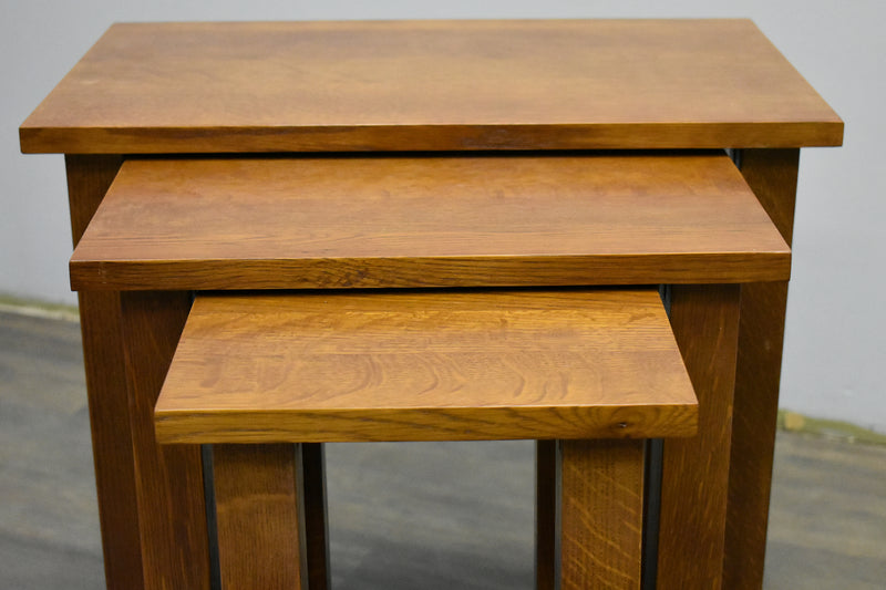 Mission Oak Nesting Tables - Set of 3