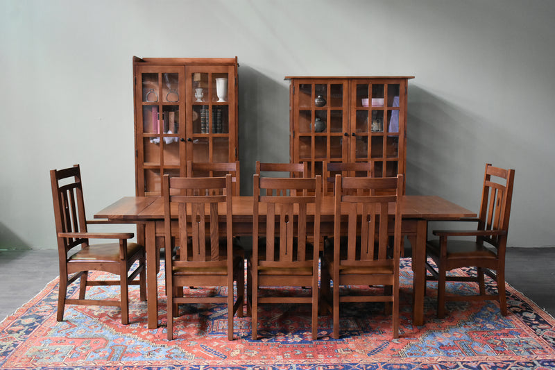 Mission Stow Leaf Table & Arrow Back Chair Dining Set - Light Oak