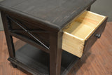 Greenview Charcoal End Table - Crafters & Weavers - 5