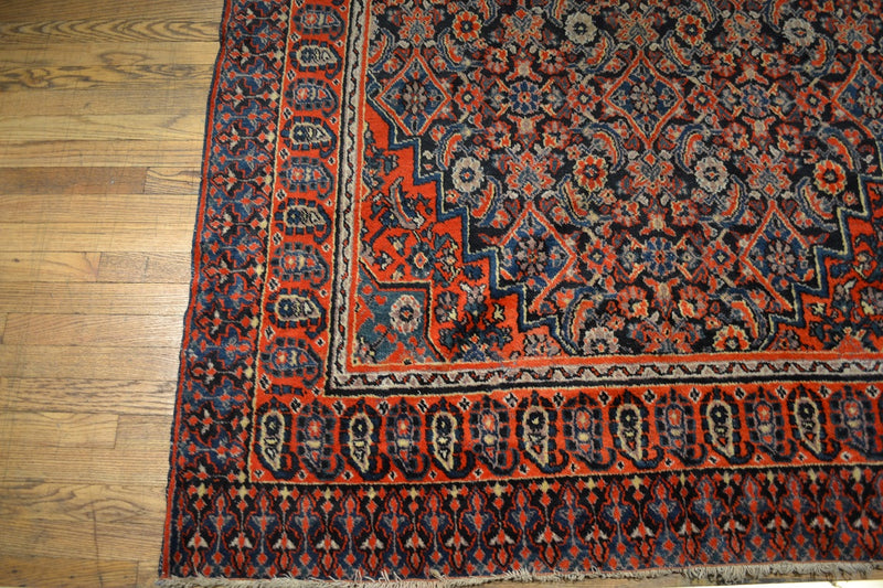"Antique Persian Rug / Oriental Rug 5'7"" x 13'2"""
