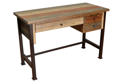 Bayshore 3 Drawer Writing Desk - Crafters & Weavers - 1