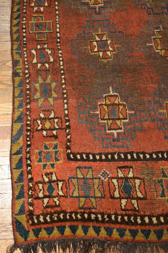 "Antique Kirgiz / Oriental Rug 5'2"" x 8'0"""