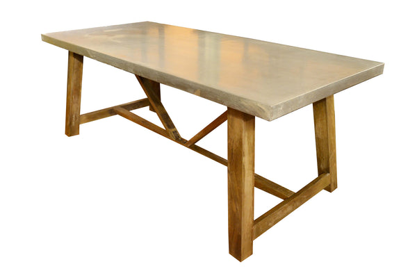 elements collection zinc top dining table
