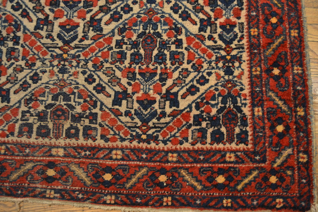 "Antique Persian rug / Oriental Rug 4'10"" x 6'0"""