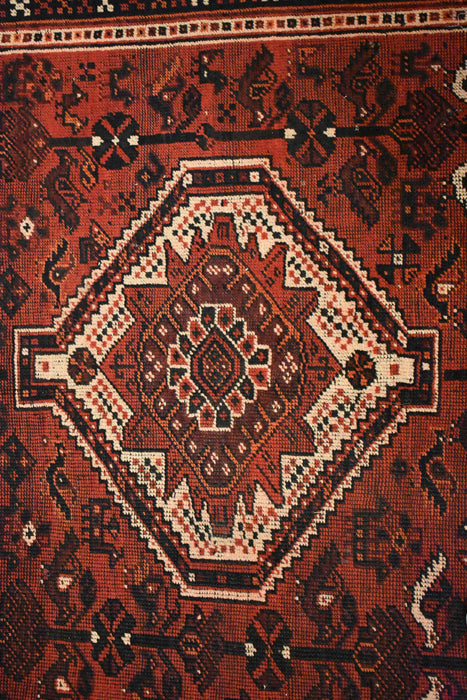 "Antique Persian Shiraz / Oriental Rug 6'6"" x 9'9"""