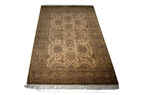 Rug3652 6 x 9.1 Indian Rug - Crafters & Weavers - 1