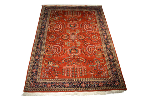 Rug3653 6.7 x 9.7 Indian Rug - Crafters & Weavers - 1