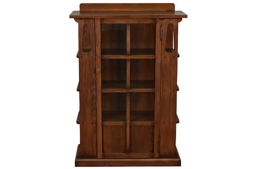Mission Style / Arts & Crafts Solid Quarter Sawn Oak Bookcase Cabinet - Crafters and Weavers