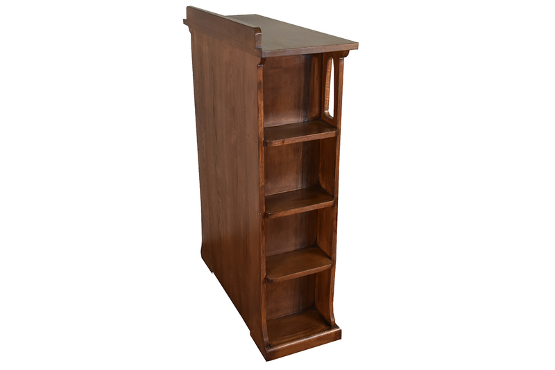 Mission 1 Door Bookcase with Side Shelves