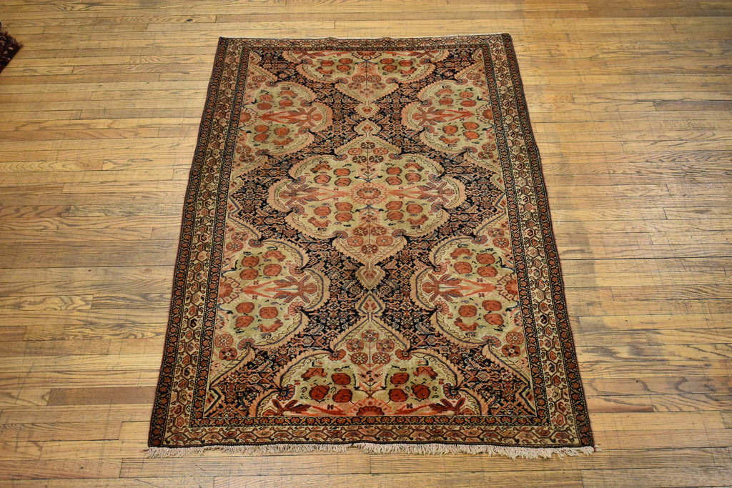 "Antique Persian Kirman / Oriental Rug 4'3"" x 6'3"""
