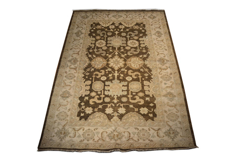 rug3664 5.9 x 8.9 Indian Rug - Crafters & Weavers - 1