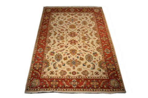 rug3675 6.1 x 9 Indian Rug - Crafters & Weavers - 1