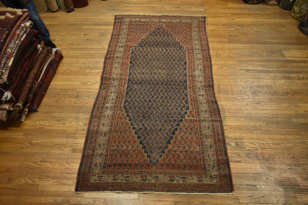 "Antique Persian Rug / Oriental Rug 5'0"" x 10'0"""
