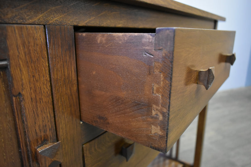 Mission Solid Oak Buffet / Console Table - Walnut