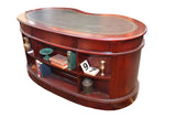 Legacy Leather Top Kidney Desk - Crafters & Weavers - 2