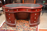 Legacy Leather Top Kidney Desk - Crafters & Weavers - 3