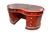 Legacy Leather Top Kidney Desk - Crafters & Weavers - 1