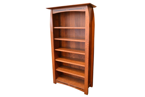 Quarter Sawn White Oak Bookcase - Crafters & Weavers - 1