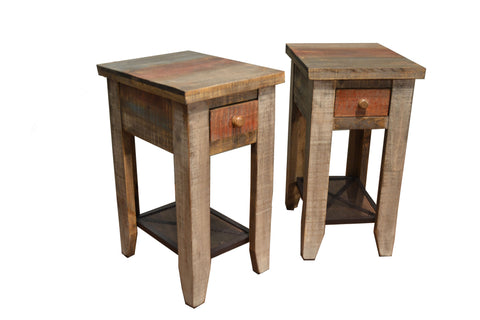 Pair of Bayshore Side Tables - Crafters & Weavers - 1